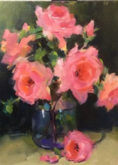 "Daily Paintworks - ""Touch of Pink"" - Original Fine Art for Sale - © Laurie Johnson Lepkowska"
