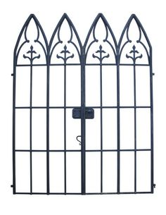 PAIR OF UNUSUAL ANTIQUE FRENCH WROUGHT IRON GATES - UK Architectural Heritage