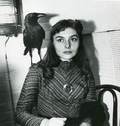 "kvetchlandia: ""Weegee Woman With a Crow on Her Shoulder, the Limelight Cafe, Greenwich Village, New York City c.1956 """