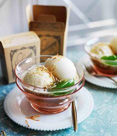 Australian Gourmet Traveller recipe for Orient Express ice-cream sundae.