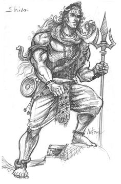 Lovely sketch of Lord Shiv