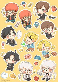 Messenger Games, Mystic Messenger Fanart, Mystic Messenger Comic, Chibi, Mini Comic, Funny Games, Kawaii Anime, Anime Characters, Mystery