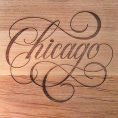 We Love Typography: Chicago by Anna CF Types Of Lettering, Script Lettering, Script Type, Calligraphy Letters, Typography Letters, Typography Poster, Graphic Design Typography, Lettering Design, Chicago Tattoo