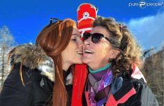 Florence Arthaud et sa fille Marie - janvier 2015