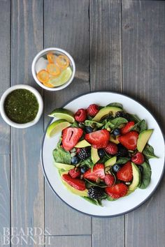 Berry & Avocado Salad With Cilantro Dressing {Beard and Bonnet} #glutenfree #vegan