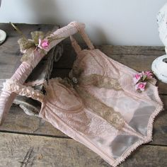 Shabby vintage pink lingerie corset wall by AnitaSperoDesign