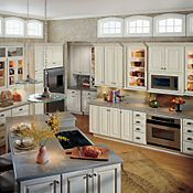 Thomasville toasted almond glaze- kitchen cabinet color ...
