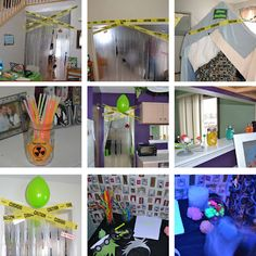 Monster Scientist 6th Birthday Party, adorable party decorations to make the house look like a science lab