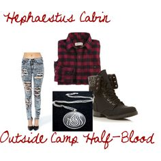 """Hephaestus Cabin Outside Camp Half-Blood"" by greekfreak-69 on Polyvore"