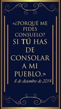¿Por que me pides consuelo? #SomosLaLuzDelMundo. #radiolldm