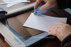 DIY Pocketfold Invitations: Step by step How-To's