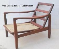 Retro 60s Easy Danish Chair ARMCHAIR Vintage Wood Teak Rosewood Frame