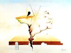 Pittura Surreale olio su tela e tavola - Benvenuti su artegambasin.org Painting, Surrealism, Art, Painting Art, Paintings, Painted Canvas, Drawings