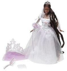 AmazonSmile: Barbie Princess - Rapunzel's Wedding - African American Rapunzel Wedding Doll: Toys & Games