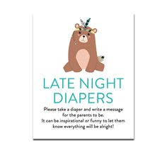 This is such a fun baby shower activity! Frame this sign and place it on a table along with a bunch of colored markers and blank diapers. Have the guests decorate and write messages for the mommy and daddy to be! About the Printable One 8″ x 10″ sign on an 8.5″ x 11″ jpeg file. Print and cut. Instant Download How Instant Download Works: Once payment is completed, you will have access to your downloaded file. You will: -See the download link on the order received page. -See the download l...