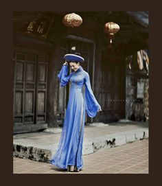 Beautiful blue ao dai.