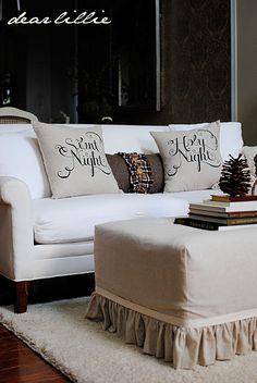 christmas pillows - ottoman cover