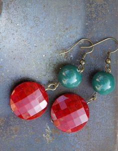 Red and Green Earrings £6.00