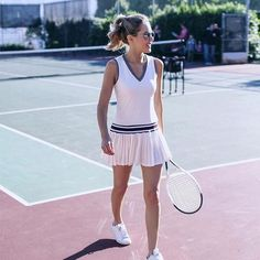 @maryorton acing her #tennis style in our V-Neck Tennis Dress. #regram