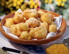 Petulla Recipe for Albanian Fried Dough - Elaine Watkins - macedonian food Albanian Cuisine, Albanian Recipes, Albanian Food, Croatian Cuisine, Delicious Desserts, Dessert Recipes, Yummy Food, Macedonian Food, European Cuisine