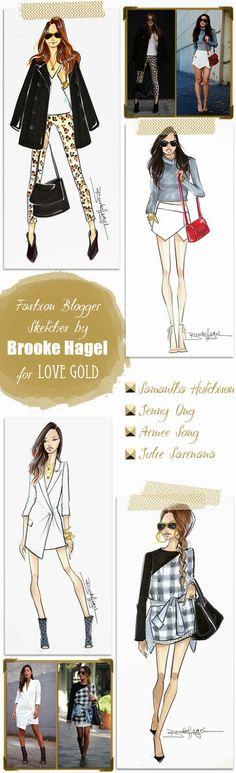 Fabulous Doodles Fashion Illustration blog by Brooke Hagel: Custom Fashion Illustration Gifts for Love Gold
