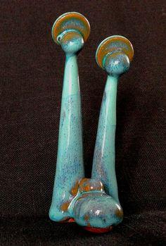 Fabriqués à la main poterie Nativité Set Nativité scène Creche crèche scène Jésus Noël Sainte famille sud-ouest en terre cuite avec Turquoise de daina