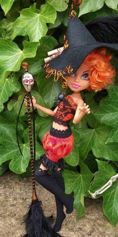 "Monster High Howleen Halloween Custom OOAK Outfit Clothing ""Hubbadillia""  By Datsundolly"