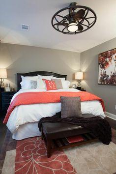 Master bedroom coral bedroom, home bedroom, small master bedroom. Romantic Master Bedroom, Small Master Bedroom, Master Bedroom Design, Home Bedroom, Bedroom Designs, Master Bedrooms, Bedroom Furniture, Master Suite, Furniture Ideas