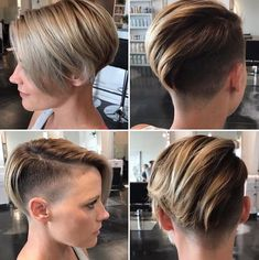 The pixie cut is versatility.Need to find pixie cuts and pixie hairstyles inspiration?Click our list of 80 trending pixie haircuts for women now. Undercut Pixie Bob, Short Pixie Haircuts, Undercut Hairstyles, Pixie Hairstyles, Short Hair Cuts, Straight Hairstyles, Short Hair Styles, Shaved Undercut, Casual Hairstyles