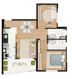 Basics and theory of design: what they teach first - Articles about furniture and interior design - Divandi Studio Apartment Plan, Apartment Floor Plans, Apartment Design, House Floor Design, Home Design Floor Plans, House Floor Plans, House Layout Plans, House Layouts, Small House Plans