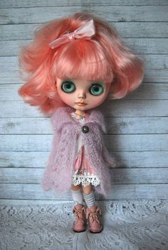 Blythe Doll Knitted Mohair and Silk Blend Lacy Jacket