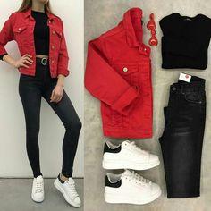 Womens Fashion Boho Chic Jeans Ideas For 2019 Girls Fashion Clothes, Teen Fashion Outfits, Mode Outfits, Girl Outfits, Clothes For Women, Ladies Outfits, Womens Fashion, Cute Casual Outfits, Simple Outfits