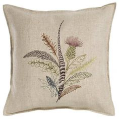 "Coral & Tusk - Thistle Pillow 16""x16"""