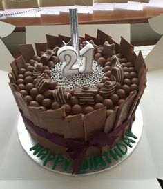 21st Birthday Cake for my little brother. Chocolate Heaven!