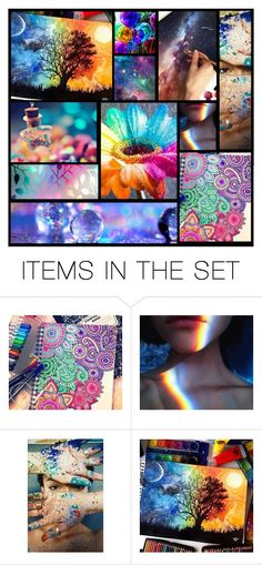 """""""colorful...."""" by heartandsoul ❤ liked on Polyvore featuring art"""