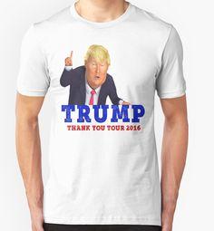 Donald Trump Thank You Tour 2016 Victory Tour Deplorables Unity American Democrat Republican Funny Vintage Cartoon by CozyTeesBuffalo