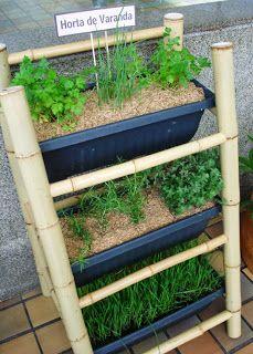 Fazer nossa horta na varanda