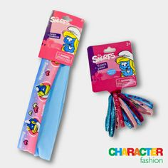#CharacterFashion Smurfette Hair Ponies and Hair Bands