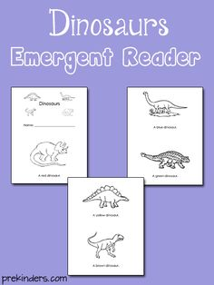 Printable dinosaur emergent reader book for your classroom. Download: Dino Book Find more Dinosaur Activities for Pre-K on the category page.