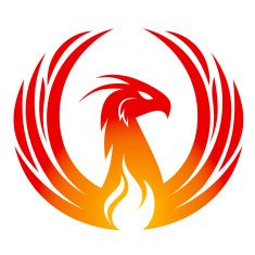 Phoenix design vector art illustration