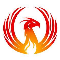 Phoenix design vector art illustration