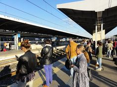 Departing Padova was one of the busiest platforms we had come across in two months of train travel. #indierail #italy