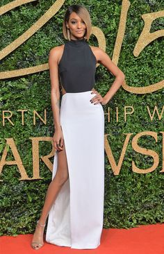 Look da modelo Jourdan Dunn no red carpet.