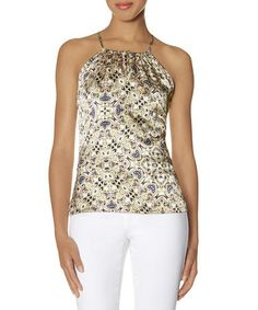 Look what I found on #zulily! Off-White Arabesque Halter Top by The Limited #zulilyfinds Cant' wait to get it :o)