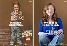The Little Girl from the 1981 LEGO Ad is All Grown Up and She's Got Something to Say About LEGO's and gender specific toys...Check out the interview with educational psychologist Lori Day, womenyoushouldknow #Girls #Gender_Identity