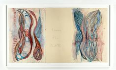 Louise Bourgeois I GIVE EVERYTHING AWAY, 2010 Etching and mixed media on paper, Courtesy Hauser & Wirth and Cheim & Read Photo: Christopher Burke, © The Easton Foundation