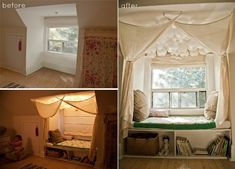 DIY Window Nook: BEFORE and AFTER