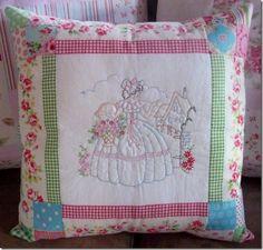 free crinoline ladies embroidery patterns - Google Search