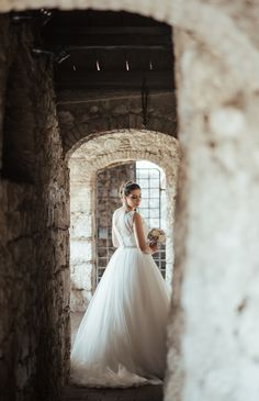 Beautiful bride. Stunning lace wedding dress. Princess wedding dress. Dream wedding. Dream Castle wedding. Croatia wedding photographer. Wedding day  in Trsat. Trsatska gradina