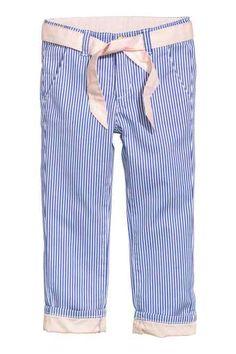 Keprové kalhoty s vázačkou
